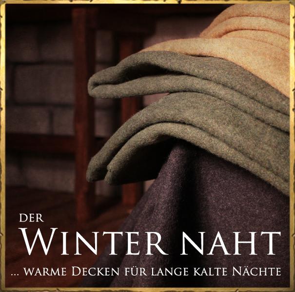 Ankündigung neuer Ware bei Facebook | Stils Fotografie | Decken | Dein Larp Shop