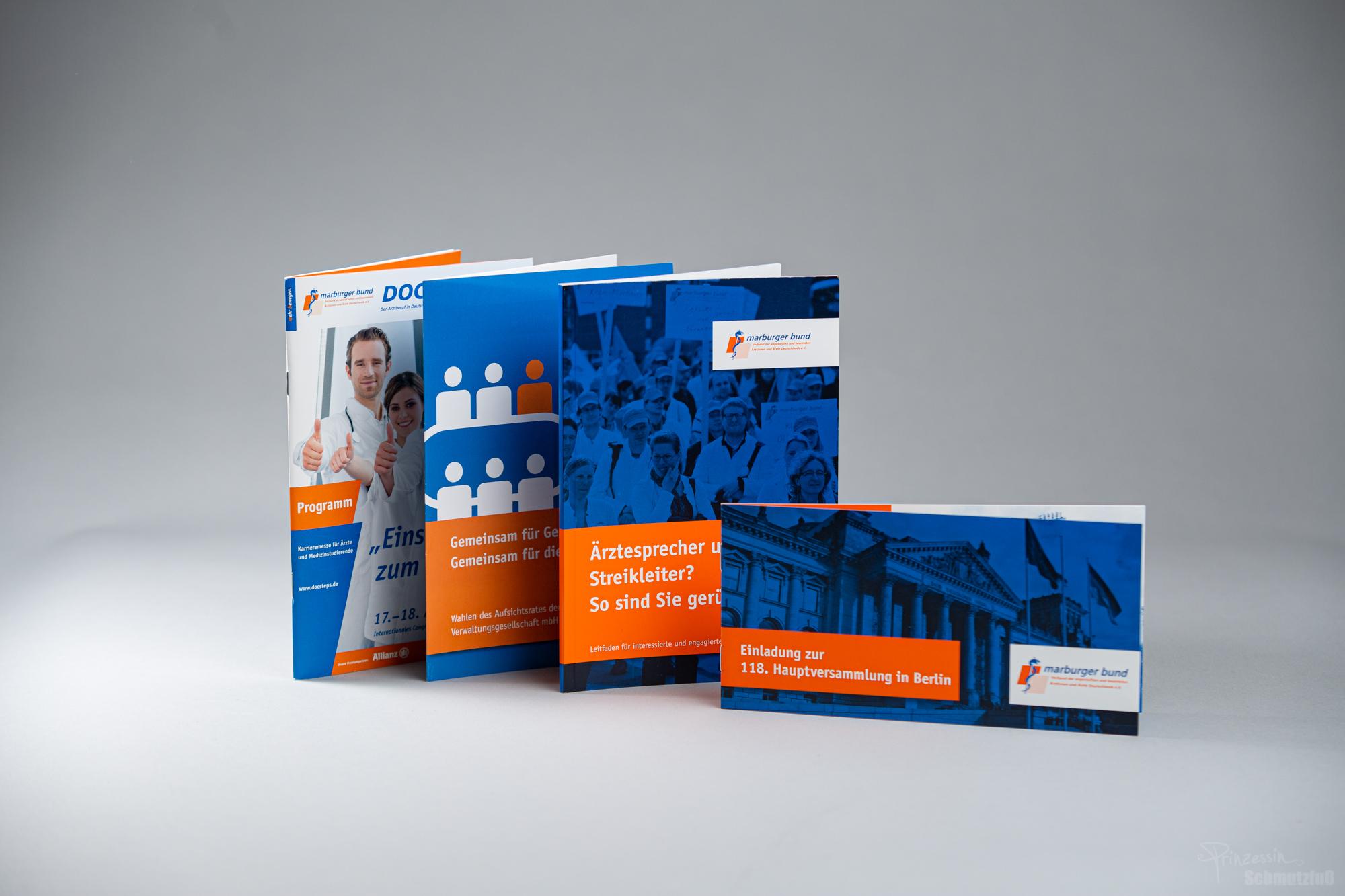 Text- und Bidanpassung sowie Textsatz nach vorgegebenem CD | Verschiedene Broschuren und Flyer | Marburger Bund | Anstellung bei da vinci design