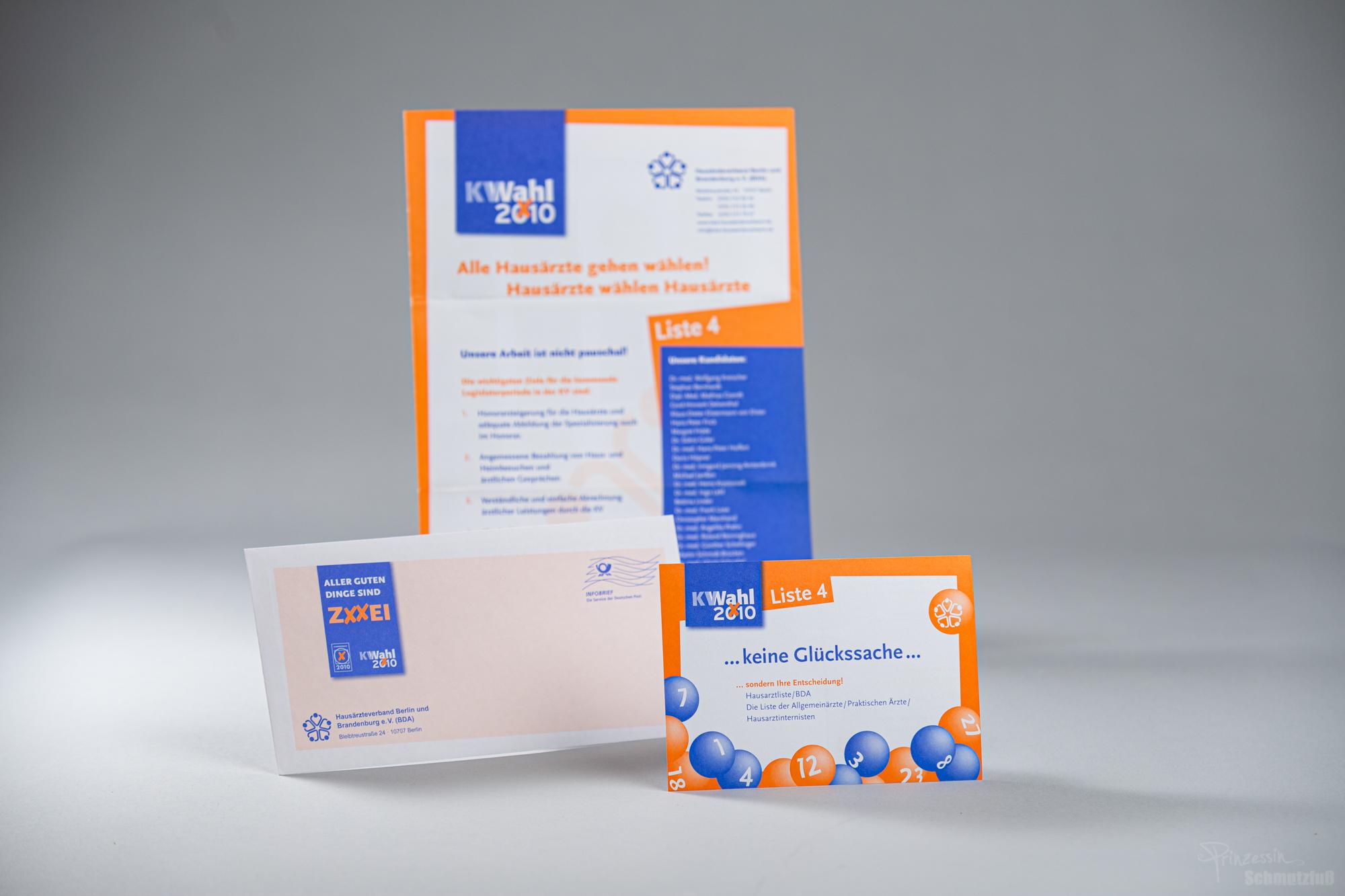 Layoutgestaltung | Erstellung Grafik | Postkarte | Ankündigung | Brief-Umschlag | KV Wahl | Anstellung bei da vinci design