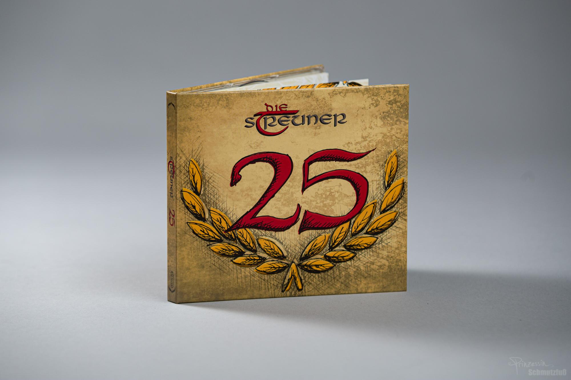 CD-Gestaltung | Zeichnung Ährenkranz und 25 | Die Streuner 25 Jahre