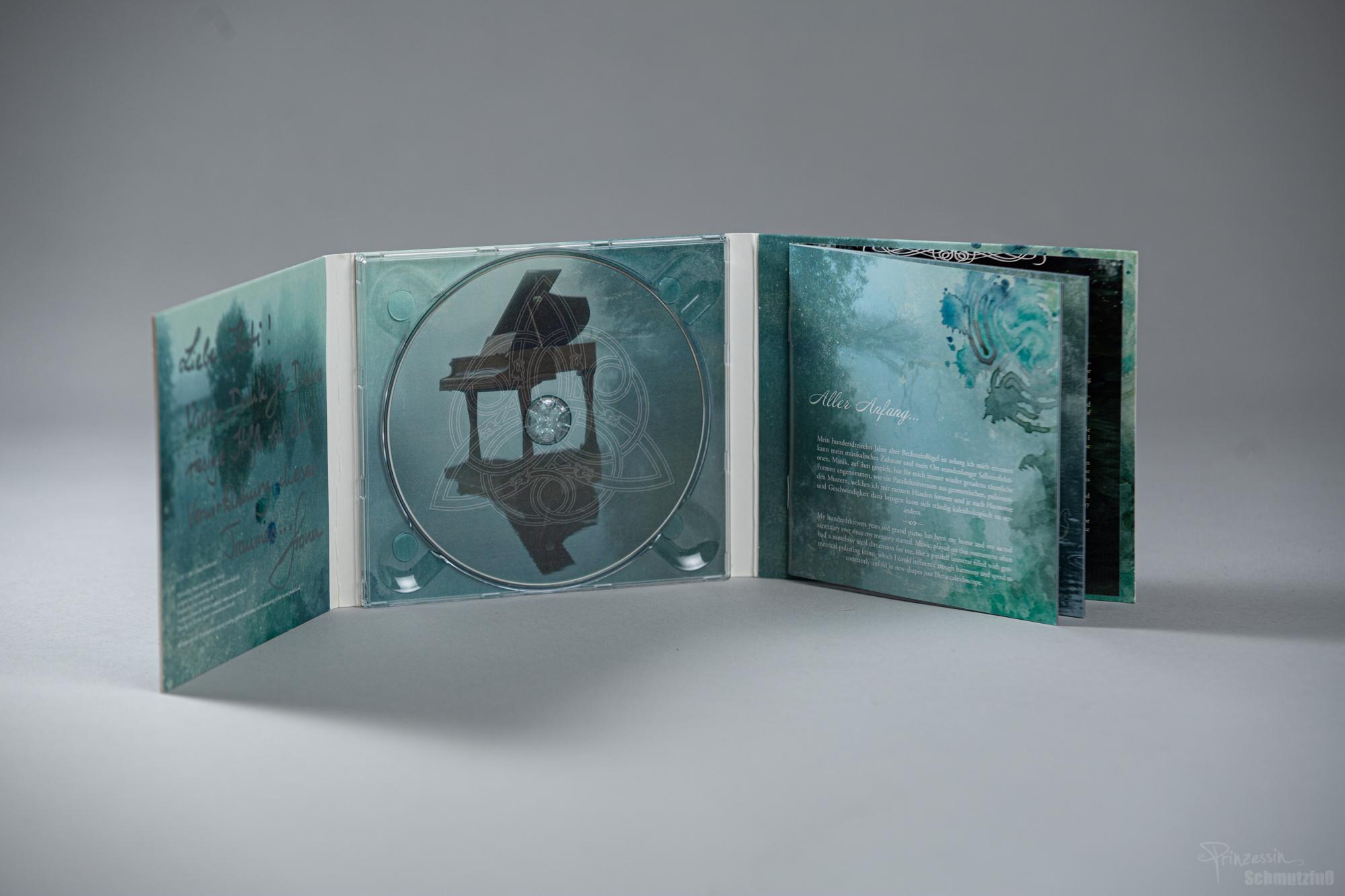 CD-Gestaltung Innenteil | Fotomontage | Erstellen von Grafiken | of rivers and tides