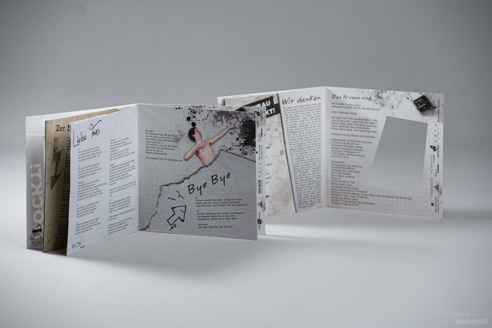 Aufwändige Bookletgestaltung | Textsatz | Erstellen von Grafiken | Das Niveau Rockt!