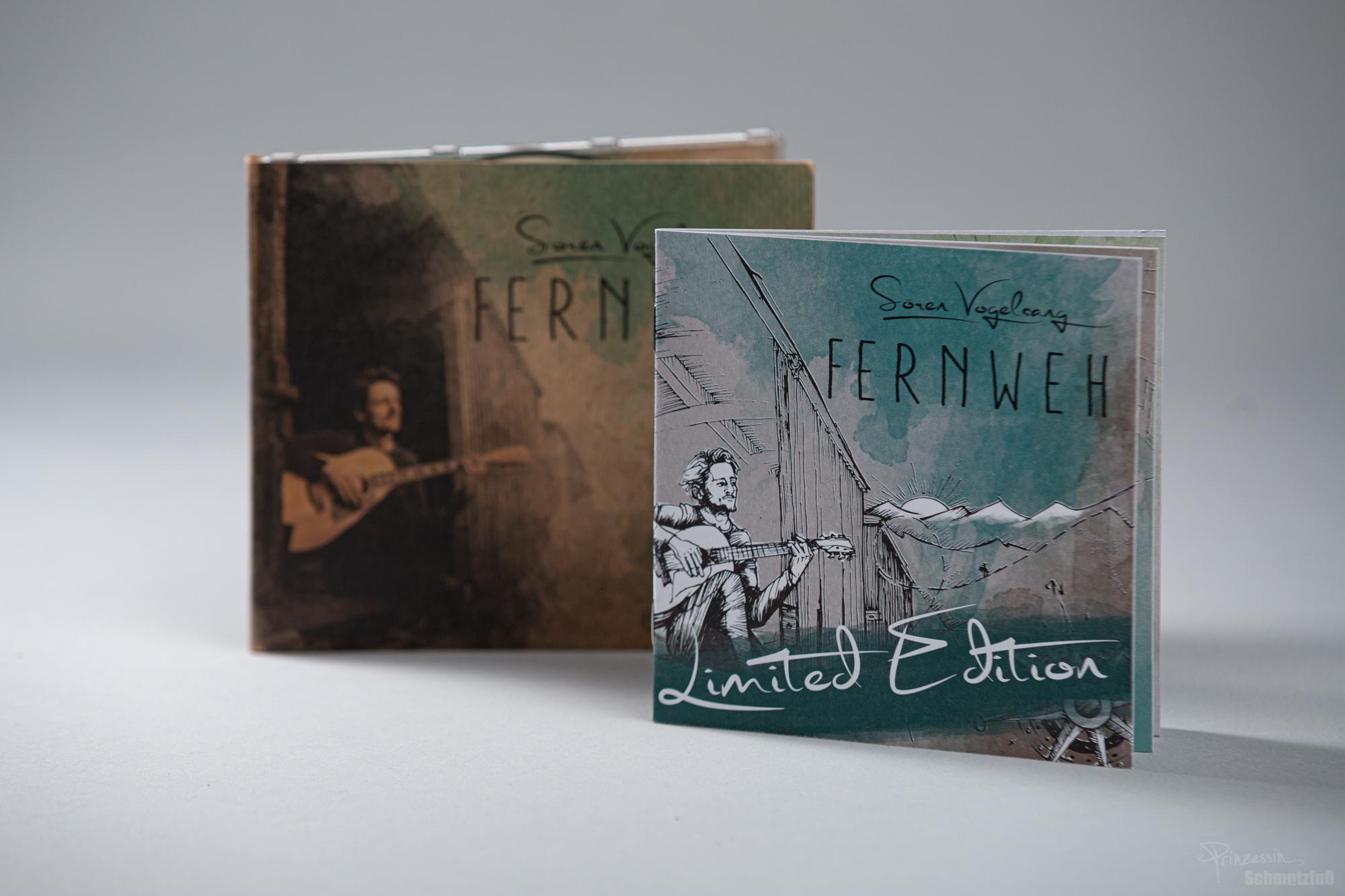 CD-Gestaltung | Digipack aus Bierpapier | Booklet auf Naturpapier im abgewandelten Stil | Sören Vogelsang Fernweh