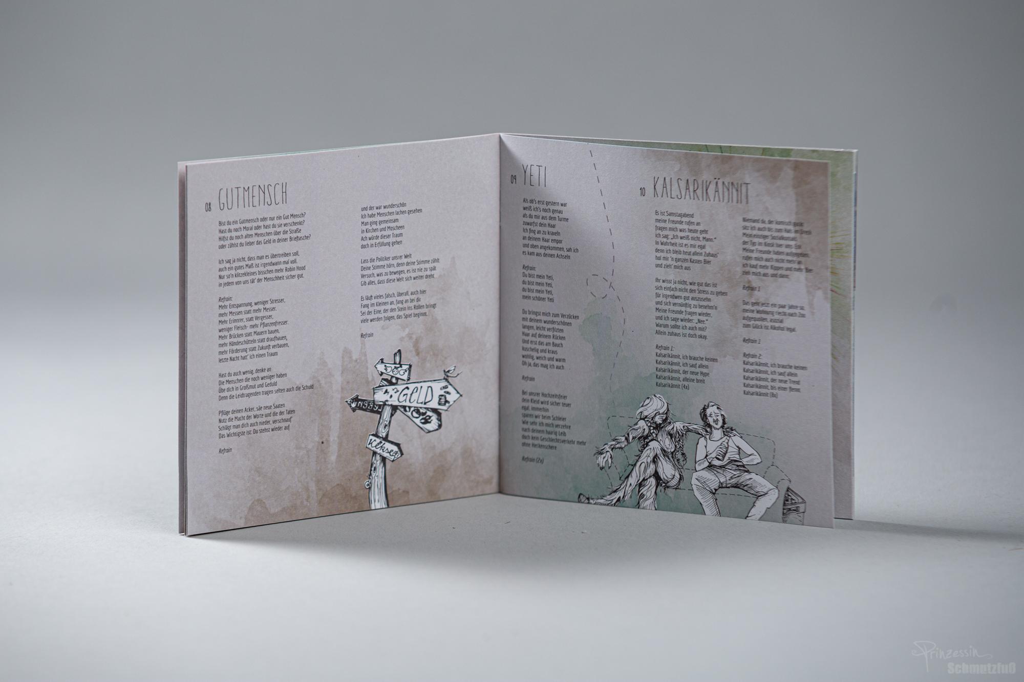 Bookletgestaltung | Textsatz | Einbezug und Aufarbeitung der Illustrationen von Quinu | Sören Vogelsang Fernweh
