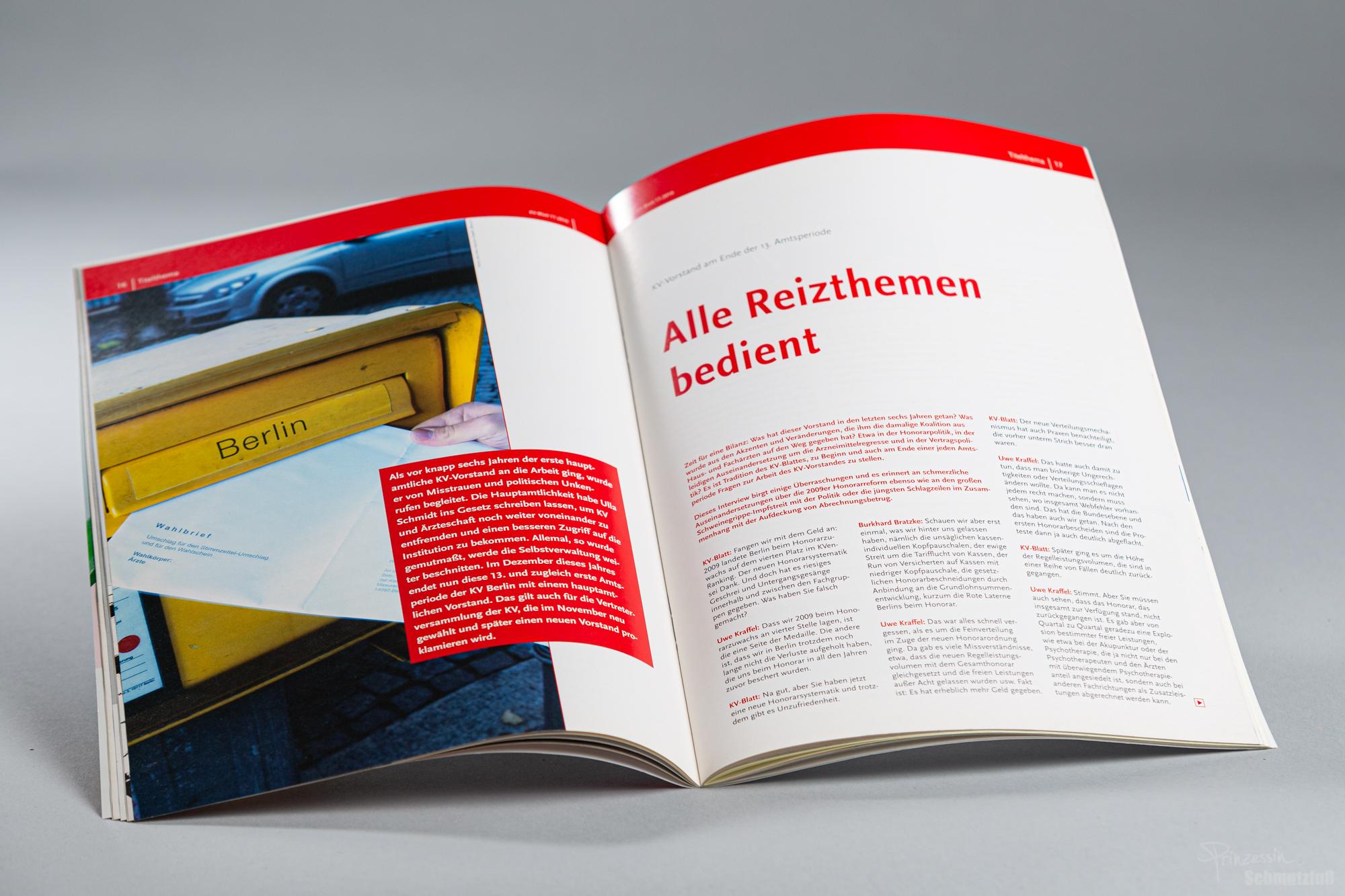 Textsatz nach bestehendem CD | Durchführung Imprimatur | KV Blatt | Anstellung bei da vinci design