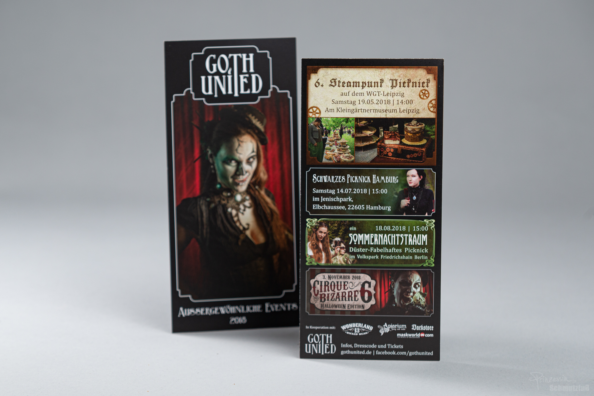 Layout Flyer | Gestaltung Vorankündigungen | Goth United