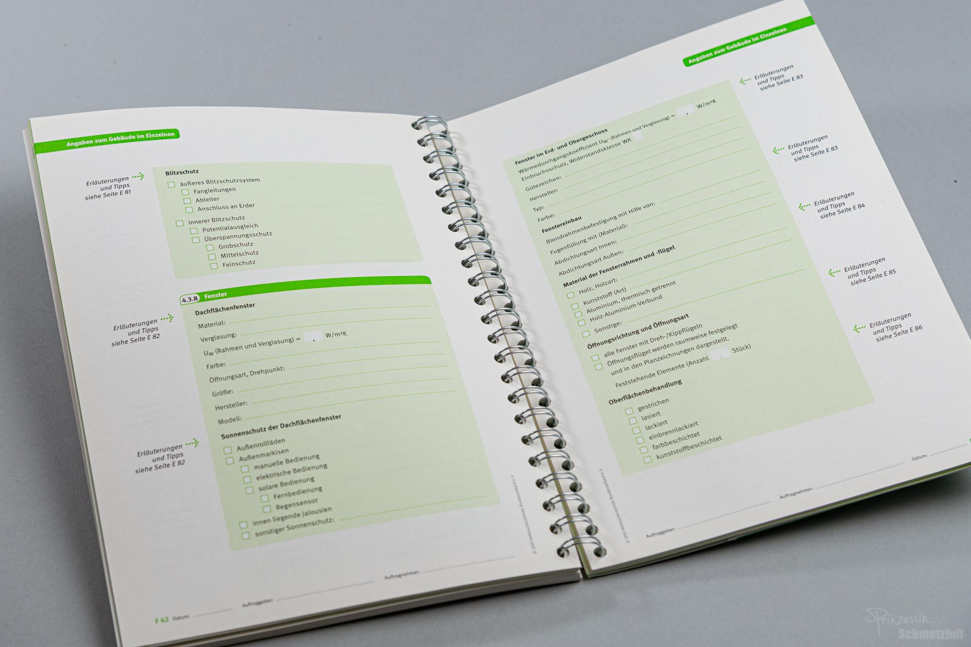 Erstellung eines umfangreichen Formulars im Rahmen eines CDs | Musterbaubeschreibung | Verbraucherzentralen | Anstellung bei da vinci design